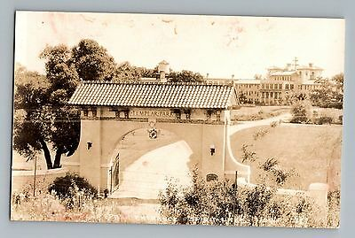 Spirit Lake Iowa IA Templar Park Entrance Real Photo Postcard RPPC 1930-50