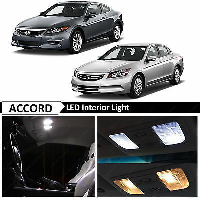 14x White Interior - License Plate LED Lights Bulbs Fits Honda Accord 2003-2012