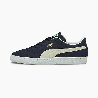 Puma Mens SUEDE CLASSIC- Shoes NEW AUTHENTIC Navy Peacoat-White