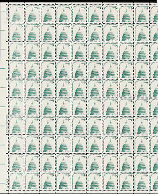 1591   9c  CAPITOL DOME M NH FULL SHEET OF 100   SPECIAL SALE AT  FACE