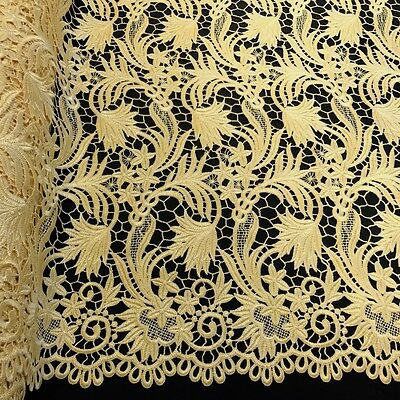 Daphne Guipure Venice French Lace Embroidery Fabric 52 Wide Many Colors