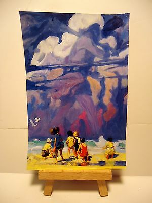 The Giant 4x6 Original PAINTING Ray Dicken a NC Wyeth