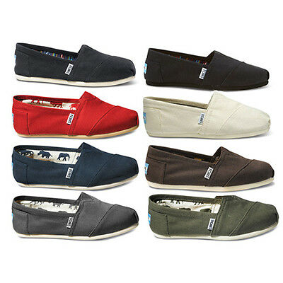 Toms Womens Classics Slip On Canvas Shoes WO BOX