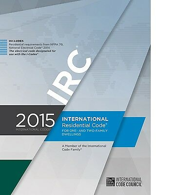 2015 International Residential Code IRC One and Two-Family Dwell by ICCOn CD