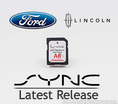 Ford - Lincoln A8 SYNC SD Navigation Card Map Update 2014 2015 2016 2017 2018