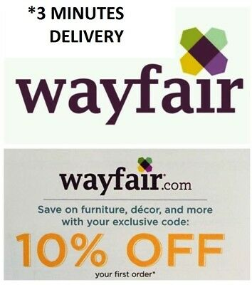 Wayfair 10 off entire order- Onlinein stores-FAST delivery Exp-1130