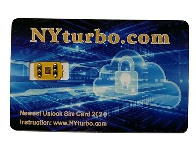 NYturbo iPhone Unlock Sim Chip for iPhone 11 XS Max XR 8 7 6 Plus SE R iOS 13-3