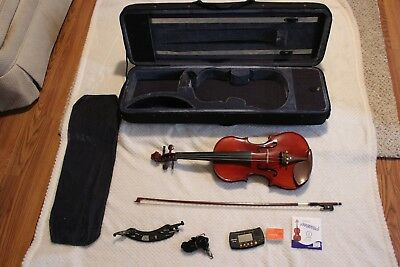 Full Size 44 Natural Acoustic Violin with Case