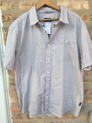 Mens Patagonia short sleeve button front casualoutdoor shirt size large