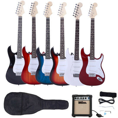 New 6 Color 6 String Electric Guitar-10w AMP-Strap-Cord-Gigbag