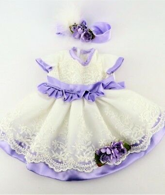 Doll Clothes 18 Dress Lavender Lace Headband Fits American Girl Dolls