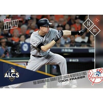 Topps Now 759 Todd Frazier RBI GROUND-RULE DOUBLE GETS LODGED IN FENCE