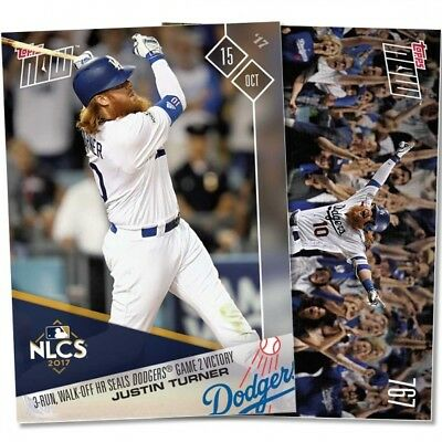 2017 Topps Now 767 Justin Turner 3-RUN WALK-OFF HR SEALS DODGERS GAME 2 VICTORY