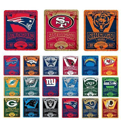 New NFL Football Logo Large Soft Fleece Throw Blanket 50 X 60