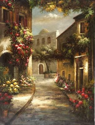 Tuscany Village Italy 36x48 100 Hand painted Oil Painting on Canvas