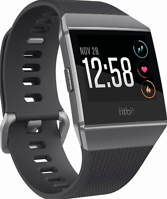 BRAND NEW FitBit Ionic SmartWatch Fitness Tracker Charcoal Gray FAST SHIPPING