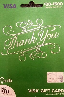 100 Visa Card-No Fees-Free Fast Shipping with Tracking Say Thank You Special