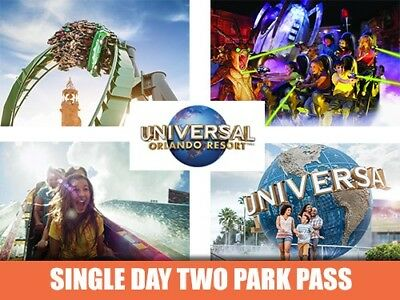 Universal Orlando Resort - Theme Park Ticket - Single Day Two Park Pass