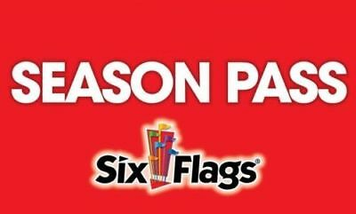 2018 Six Flags Season Pass and All Day Refillable Drink Bottle You Pick the Park