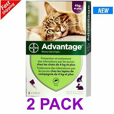 ADVANTAGE PURPLE for Cats Over 9 lbs 2-Pack Fast Shipping EXP-DATE 062022