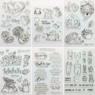 Hedgehog Transparent Clear Silicone Stamp Seal for DIY Scrapbooking Decoration