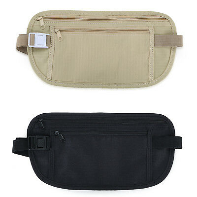 Hidden Security Travel Phone Money Passport Card Waist Belt Bag Pocket Wallet