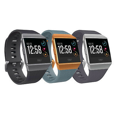 Fitbit Ionic Smartwatch Fitness Activity Tracker One Size S-L Bands Included
