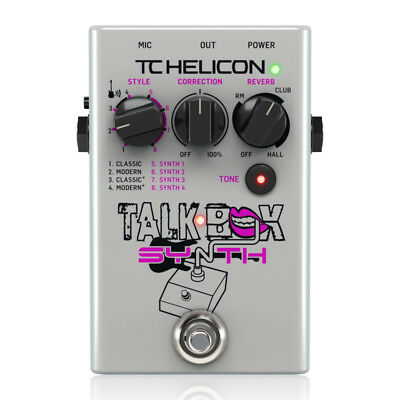 TC-HELICON TALKBOX SYNTH Vocoder Vocal Guitar Effect Pedal