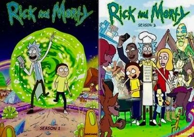 Rick and Morty The Complete Series Season 1- 2 4-DISC DVD SET BRAND NEW