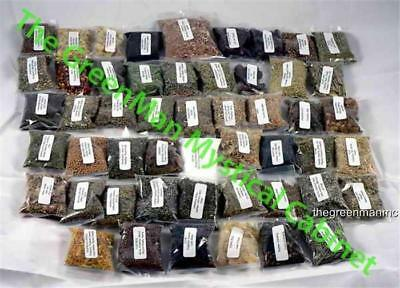 HERBS25 HERB SAMPLER KITPLUS FREE GIFT  PAGAN SPELLS WICCA WITCHCRAFT
