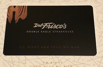 100 Del Friscos Gift Card - Amazing Deal