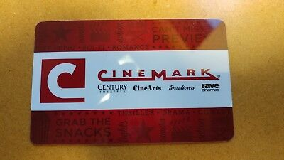 Cinemark Movie Gift Card 11 or more Value - Century Rave Cinearts Tinseltown