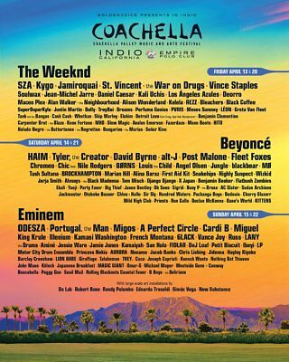 Coachella CAR CAMPING Pass Only Weekend 1 one April 13-15 2018 ticket