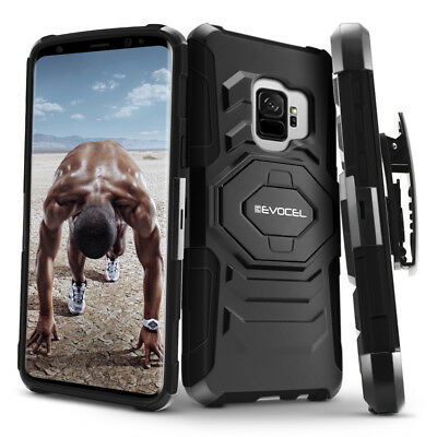 Galaxy S9 - S9 Plus Case Evocel Rugged Holster Dual Layer Case w Kickstand
