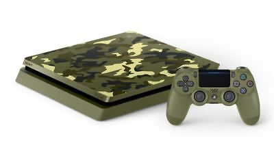 Sony PlayStation 4 Slim Call of Duty WWII Limited Edition 1TB Green Camouflage