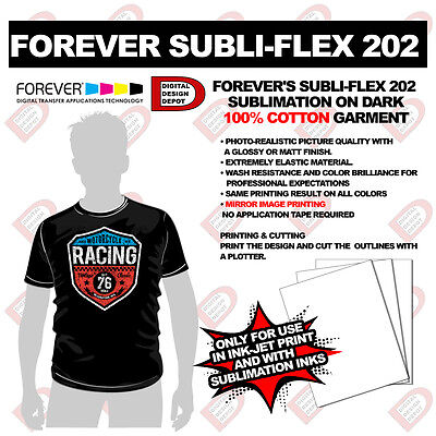 Forever Sublifex 202 Sublimation Heat Transfer Paper Cotton Dark