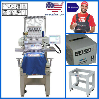 DEAL - CAMFIVE EMB HT1501 SINGLE HEAD EMBROIDERY MACHINE BASIC PACKAGE