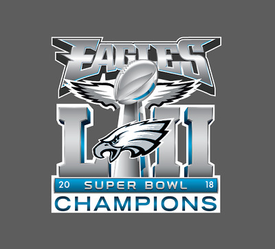 Philadelphia Eagles Super Bowl LII 52 Champions Wall Decal