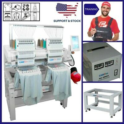 DEAL - CAMFIVE EMB HT1502 DOUBLE HEAD EMBROIDERY MACHINE BASIC PACKAGE