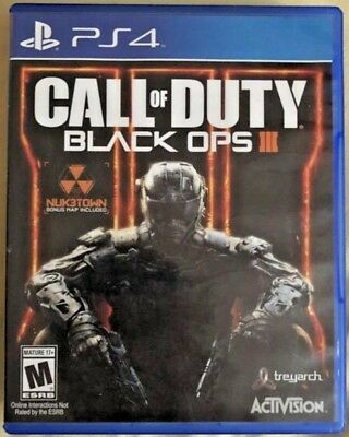 Call of Duty Black Ops III Sony PlayStation 4 2015 Used - PS4 - CoD BO 3