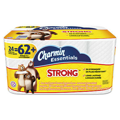Charmin Essentials Strong Bathroom Tissue 1-Ply 4 x 3-92 300Roll 24 RollPack