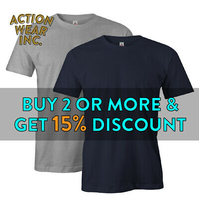 AAA 1301 MENS CASUAL SHORT SLEEVE T SHIRT PLAIN SHIRTS COTTON TEE BASIC S - 5XL