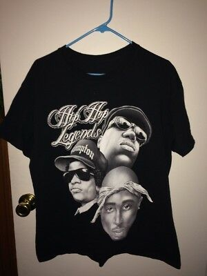 Vintage Hip Hop Legends Shirt L 2Pac Biggie Smalls Eazy-E Bone Thugs NWA