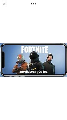 Fortnite Invite Code Mobile iOS Friend Code Instant Delivery Battle Royale Event