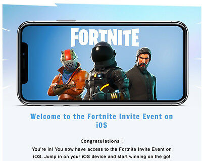 Fortnite Battle Royale Mobile iOS Friend Code Invite Instant Delivery