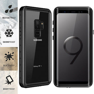 For Samsung Galaxy S9  S9 Plus Waterproof Case Cover Built-in Screen Protector