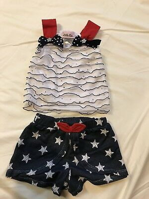 Little lass 12 Month Outfit Fourth Of July Independence day