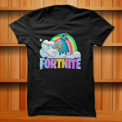 Fortnite Battle Royale Supply LLAMAS Gaming T-Shirt Black 100 Cotton S-XL Size