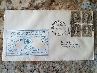 Vintage June 20 1932 Amelia Earhart Arrives in New York Event Cover