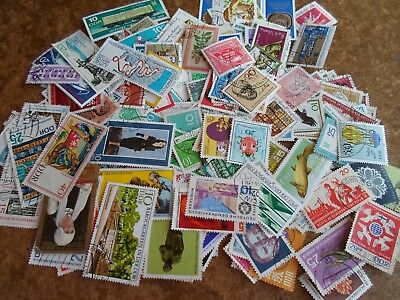Collection lot 200- different stamps of East Germany DDR